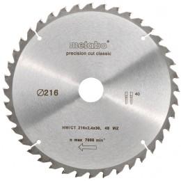 Пильный диск Metabo HW/CT 216x30 мм (628060000)