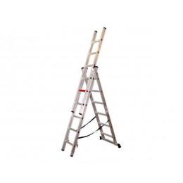 Трехсекционная лестница-стремянка VIRASTAR 3x6 (TS6160), , 2563.68 грн, Трехсекционная лестница-стремянка VIRASTAR 3x6 (TS6160), VIRASTAR, Лестницы, стремянки, подмости