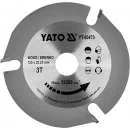 Диск пильный по дереву Yato 125x22.23x3.8 мм, 3 зубца (YT-60470)