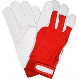Перчатки Yato бело-красные