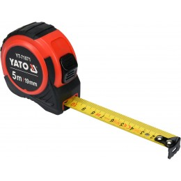 Рулетка Yato (YT-71071) 5 м x 19 мм, стальной лентой, нейлоновым покрытием 90.00 грн