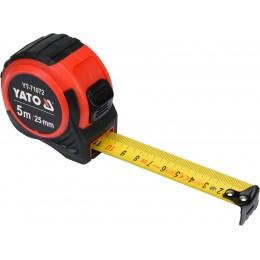 Рулетка Yato (YT-71072) 5 м x 25 мм, стальной лентой, нейлоновым покрытием 155.00 грн