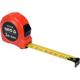 Рулетка Yato (YT-71150) 2 м x 16 мм, стальной лентой, нейлоновым покрытием, двойной блокировкой