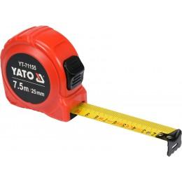Рулетка Yato (YT-71155) 7.5 м x 25 мм, стальной лентой, нейлоновым покрытием, двойной блокировкой 122.00 грн