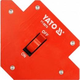 Магнитная струбцина для сварки Yato 107х160х26 мм (YT-0870)