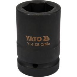 Головка торцевая ударная Yato Cr-Mo 33х80 мм, 6-гранная (YT-11736) 350.00 грн